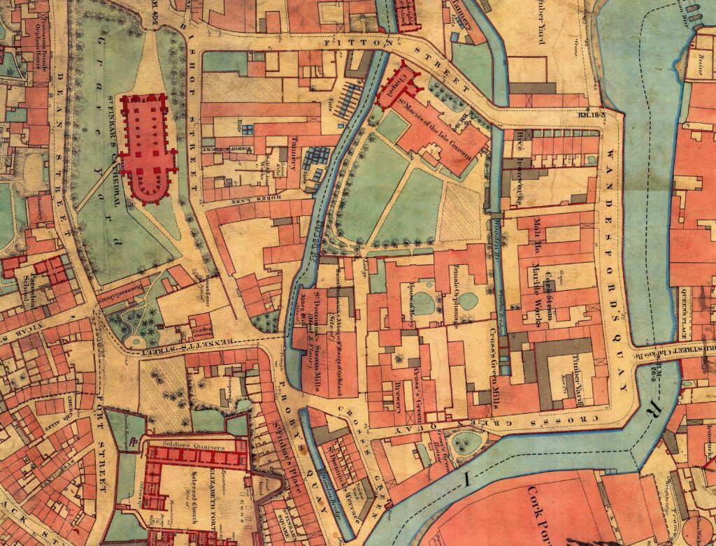 Image: 1845 OS Map, courtesy of Cork City Libraries