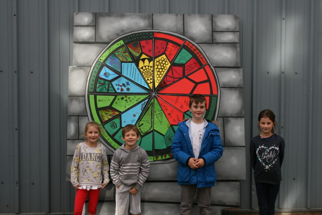 Stained glass workshop for kids